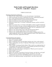 Study guide and example questions - Exam 2