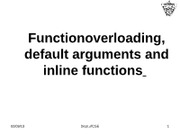 class31-32inline functions function overloading