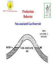Lecture-3 Production Behavior(Non Assosiated Gas)