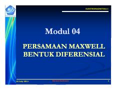 Modul 04 Persamaan Maxwell Diferensial [Compatibility Mode].pdf
