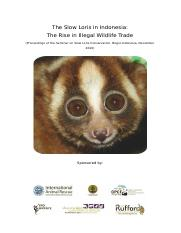 Proceedings of the Seminar on Slow Loris Conservation, Bogor-Indonesia, December 2010.doc
