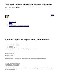 Quiz 8 Chapter 10 - open book, no time limit: BAD10: American Business in Its Global Context: Sectio