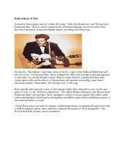 Chuck Berry A Founding Father of Rock 'N' Roll 2.docx
