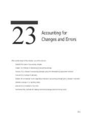23 Acctg for Changes & Errors