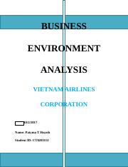 BUSINESS ENVIRONMENT ANALYSIS (1).docx