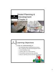 Ch09 - Hotel Planning & Development
