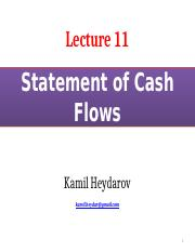 Lecture 11_Statement of Cash Flows