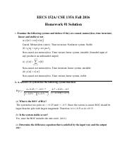 homework #1 solutions updated
