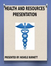 Health and Resources Presentation