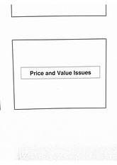 Price and Value Issues