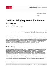 JetBlue Bringing Humanity Back to Air Travel