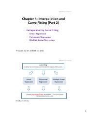 Chapter 4 Interpolation  Curve Fitting (Part 2)