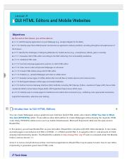 Lesson 9 : GUI HTML Editors and Mobile Websites -uCertify.pdf