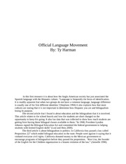 Official Language Movement