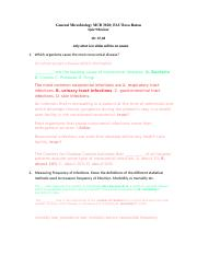 Test 3 review with answers - TheVirusesChapter27 ,