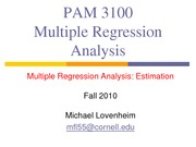 4Multiple Regression Analysis - Estimation