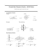Formula Sheet Moments of Inertia.pdf