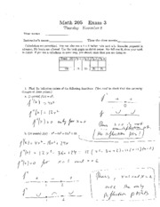 Old Exam #3 Solutions
