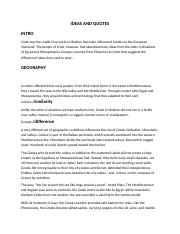 IDEAS AND QUOTES 1 ESSAY 2