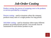 Lecture 17 job order costing