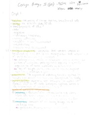 BIOL 1610 College Biology I Class Notes Whaley Fall 2013