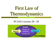 PC1431-2008-1-L28-29-First Law of Thermodynamics