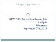 RPTS 336 - (4) Categorizing research (student version)