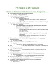 Finance Chapter Quizes