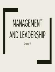 BUS 190 Management and Leadership_F16