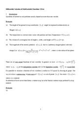 Ch.2 Differential Calculus Of Multivariable Functions
