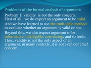 critical thinking slide_problem of formal logic