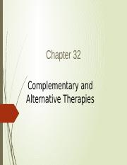 Ch 32 Alternative Therapies