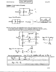 Electrical Engineering 40 - Spring 2000 - King - Final Exam