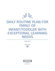 TE 381 Daily Routine Plan for Family of Infant.docx