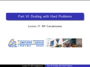 17 - Dealing with hard problems - NPC