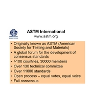 ASTM & ISO Standards