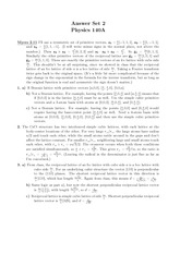 Problem Set 2 Solution on Introduction to Condensed Matter Physics