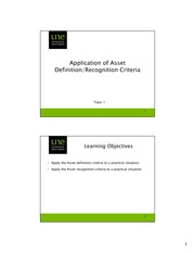(3) Application of Asset Definition and Recognition Criteria