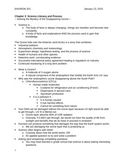 Lecture Notes-Ch. 2 Science Literacy and Process