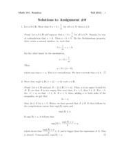 Math101Fall2012Assignment8Solutions