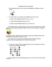 Probability practice worksheet