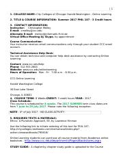 PHIL 107 -WW-HW - SUMMER 2017 SYLLABUS-WITHOUT FORUMS LISTED - 7 June to 29 July 2017(2).doc