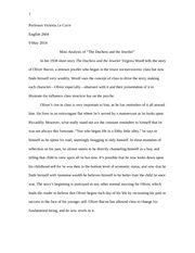 Analysis Essay on THE DUCHESS AND THE JEWELER