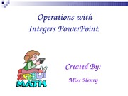 Integers-ppt grd7