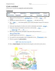 cycles worksheet - Integrated Science Name Cycles worksheet ...
