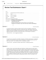 PSYC 354 Review Test Submission Exam 1