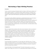 Narrowing a Topic Writing Practice.docx