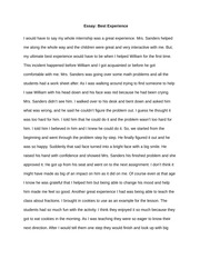Essay on high school experience