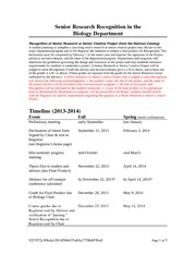 Overview of Guidelines for 13-14 Senior Research-Recognition
