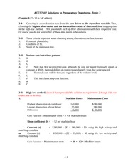 ACCT7107 Solutions to Preparatory Questions Topic 2(3)